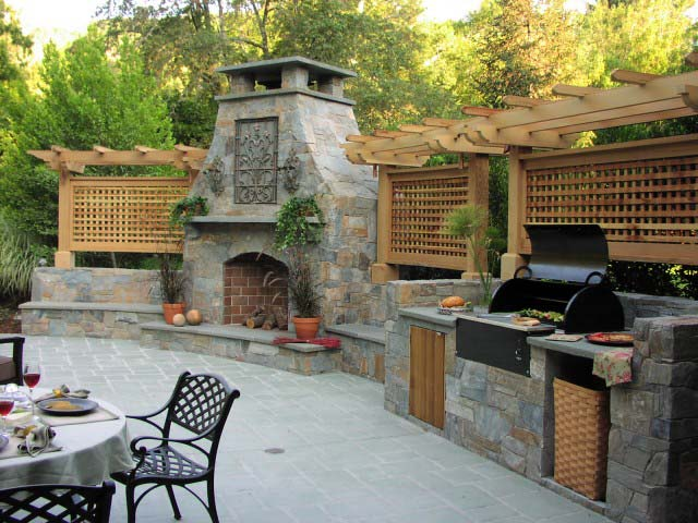 Outdoor Kitchens Are The Popular Craze Throughout The World These Days.  Actually Is It Easier To Cook Outside And Is Much Cleaner Also.